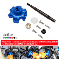 Model parts 1/5 X MAXX 1/5 6S / 8S RC car's aluminum gearbox drive housing with drive input shaft straight shaft main socket0709