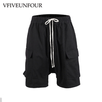 VFIVEUNFOUR Men's Large Side Pocket Casual Shorts Harajuku Hip hop Sportswear Shorts Men Fashion Tactical black Vintage Shorts