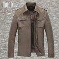 Cuero genuino de la chaqueta hombres abrigos 100% moto de piel de becerro chaquetas chaqueta de moto hombre cappotto manteau homme LT287 envío gratis