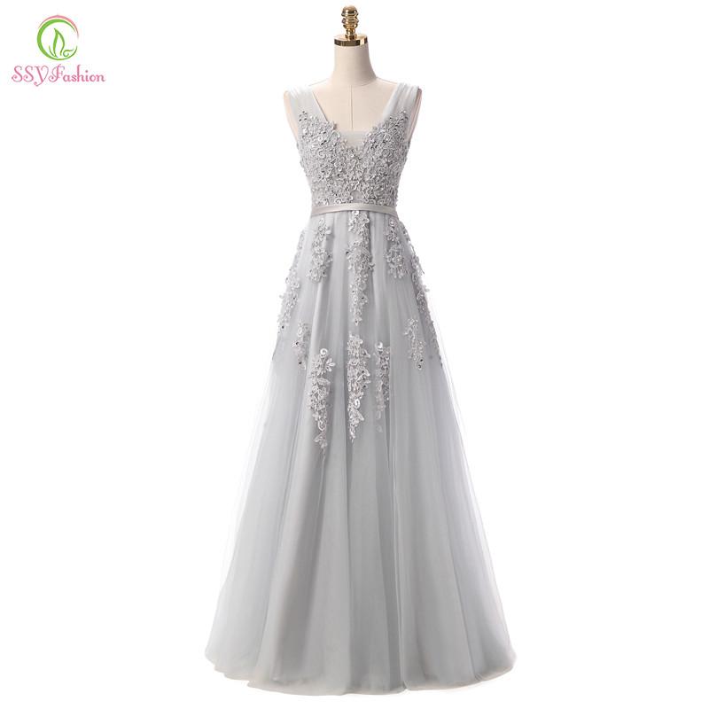 халат де вечер ssyfashion бисер кружева сексуальная спинки с длинным вечерние платья невесты банкет элегантный длиной до пола выходные туфли на выпускной бал платье