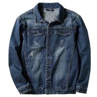 Fashion 2019 New Europe and America mens denim jackets men's Distressed hole cowboy jackets male jean coats Plus size S 7XL