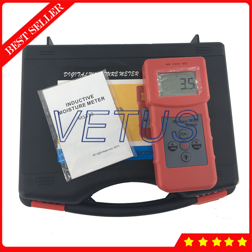 MS310 Tobacco moisture meter with wood paper Bamboo concrete metope and other material