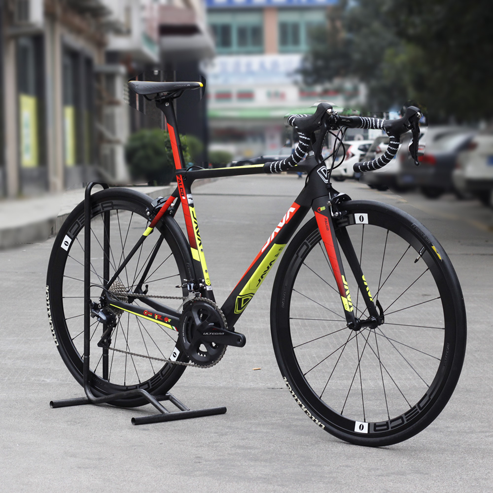 JAVA FALCO2 Carbon 700C Road Bike with R8000 Group Aluminium Wheels 22 speed Caliper Brakes Racing Bicycle 2018 anima 27 5 carbon mountain bike with slx aluminium wheels 33 speed hydraulic disc brake 650b mtb bicycle