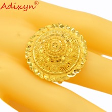 Adixyn Plus Big Size Finger Rings for Women/Girls Gold Color India Party Wedding Jewelry N04081
