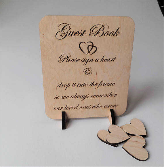Us 2638 20 Offpersonalize First Communion Rustic Wooden Clouds Guest Book Baptism Baby Shower Guest Book Alternative Wishes Drop Box Tops In