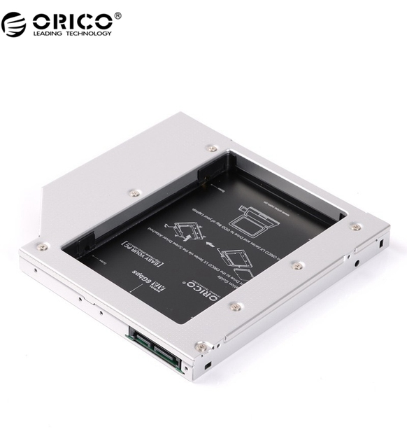 ORICO L127SS-V1 Portátil De Aluminio SATA 3.0 Disco Duro o SSD Caddy Bandeja para 12.7mm CD/DVD-ROM Fit 7, 9.5 ~ 12.5mm Drive
