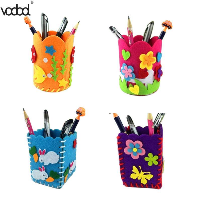 Детей DIY карандашница Craft Наборы DIY милый творческий ручки ручной работы контейнер детей детские развивающие Игрушечные лошадки раннего дет...