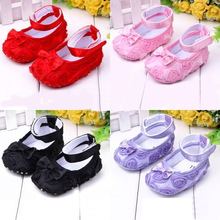 Baby Girls First Walkers Shoes Todder Shoes Infant Baby Girl Flower Soft Sole Shoes 6 Color