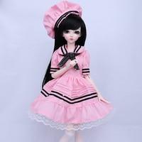 Новое поступление 1/4 BJD/SD мода, Chloe куклы для маленьких девочек подарок на день рождения полный набор с лица составляют