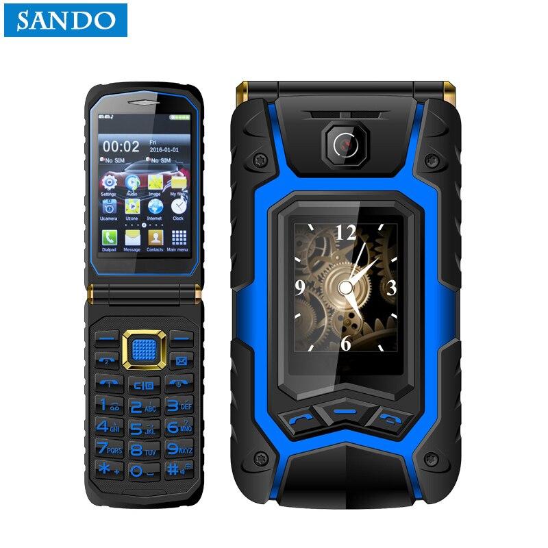 Dual Touchscreen Flip Senior Mobile Handschrift Klapphandy Russische Tastatur Ein Schlüssel Call Antwort ältere telefon