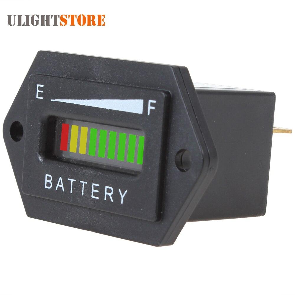 Светодиодный индикатор заряда аккумулятора, прямоугольник, три цвета, 12/24 в, 36В, 48В