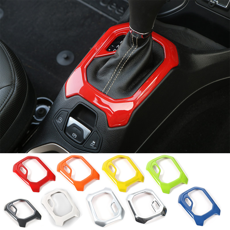 MOPAI ABS Car Interior Gear Panel Decoration Frame Trim Stickers For Jeep Renegade 2015 Up Automatic Gearshift Car Styling цена и фото