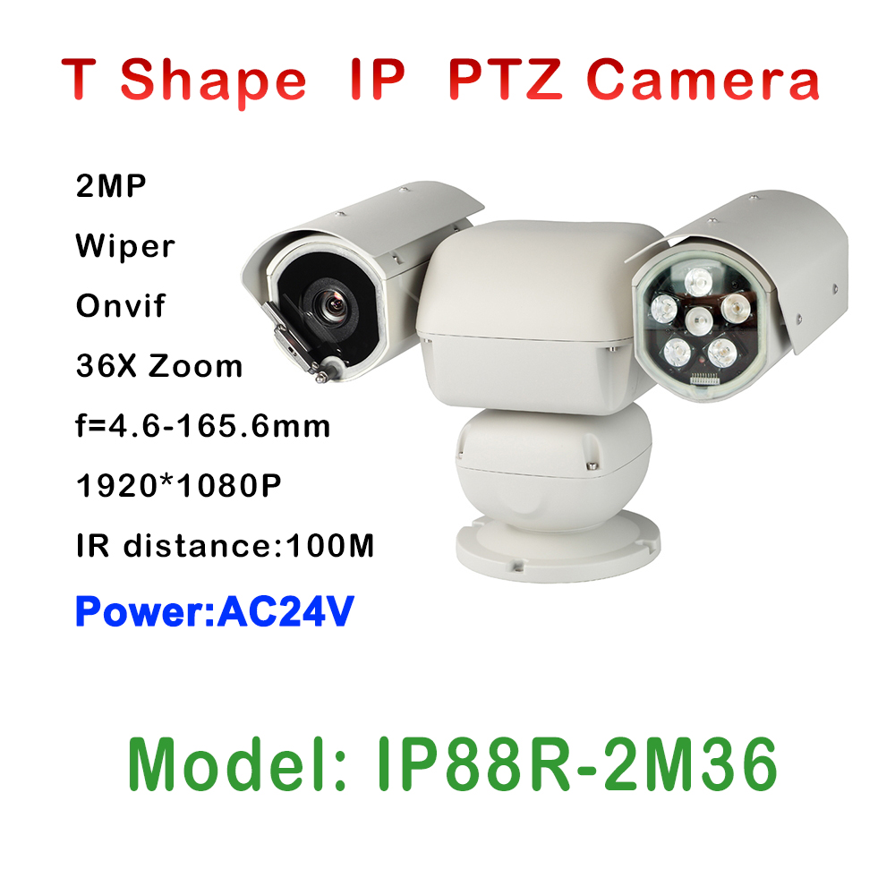 High Quality 36 x Zoom Control Day Night Heavy duty Camera IP PTZ IR 100M Auto Wiper For Marine Boating Surveillance Equipment