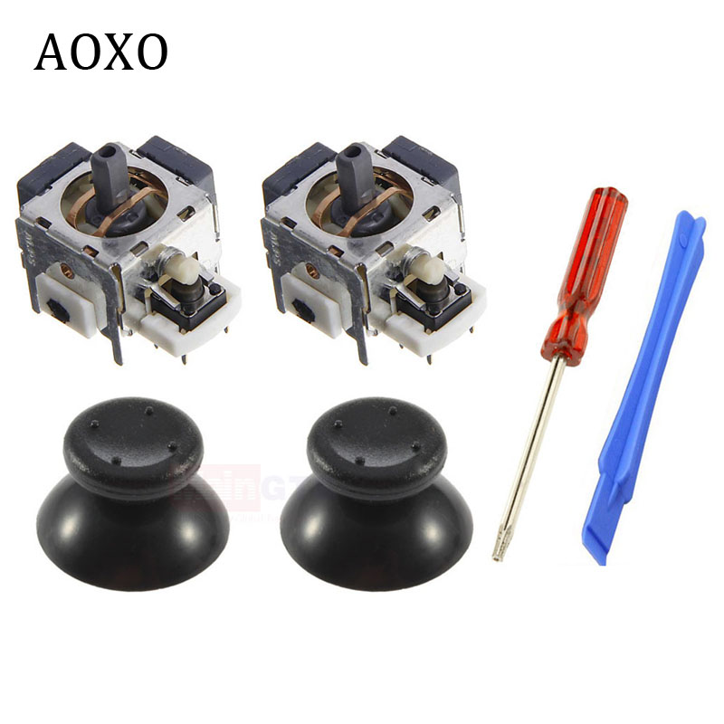 Nuevo original 2 x 3D analog stick sensor Potenciómetros y 2 x pulgar Palos tapas para Microsoft Xbox 360 controlador piezas de reparación