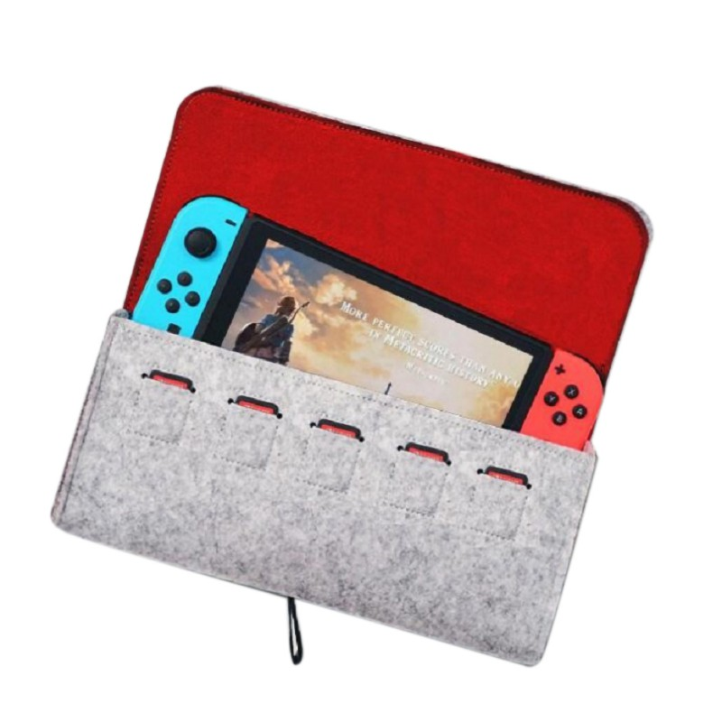 Console Pika Case Durable Carrying Case for Nintendo NS Switch Game Console Felt Storage Bag Accessories