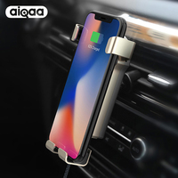 Car Mount Qi Wireless Charger For IPhone X 8 Plus Quick Charge Fast Wireless Charging Pad