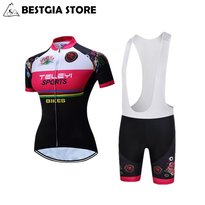 Race Cut Dames Fietsshirts Sets Polyester Fietsshirts Road Track Aero - Wielersport