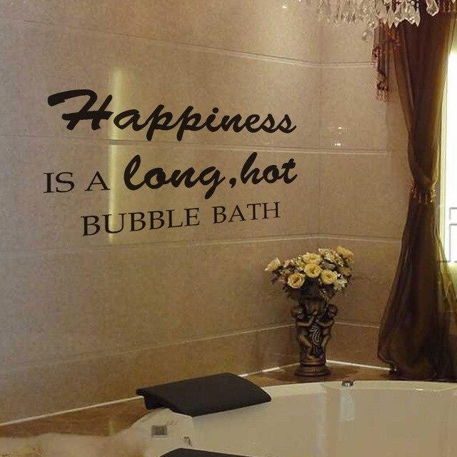 Badezimmer Wandtattoo Glück ist eine lange heißer schaumbad ...