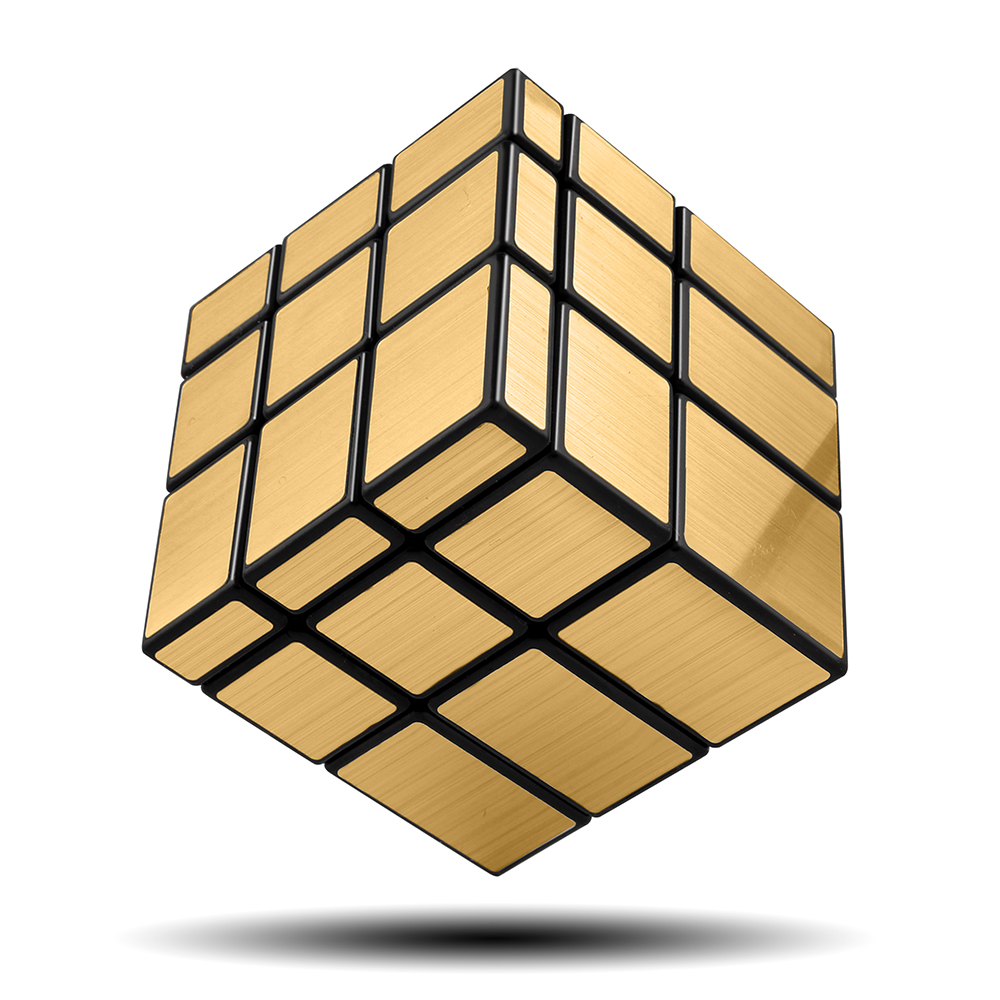D-FantiX Qiyi Mirror Cube 3x3 Magic Cube 3x3x3 Speed Cube Puzzle Educational Toys For Children Silver/Golden Mirror Blocks