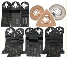 15 pcs Oscillating Multi Tool saw blades fit for Fein multimaster,Dremel power tool etc,wood metal cutting,with diamond blades