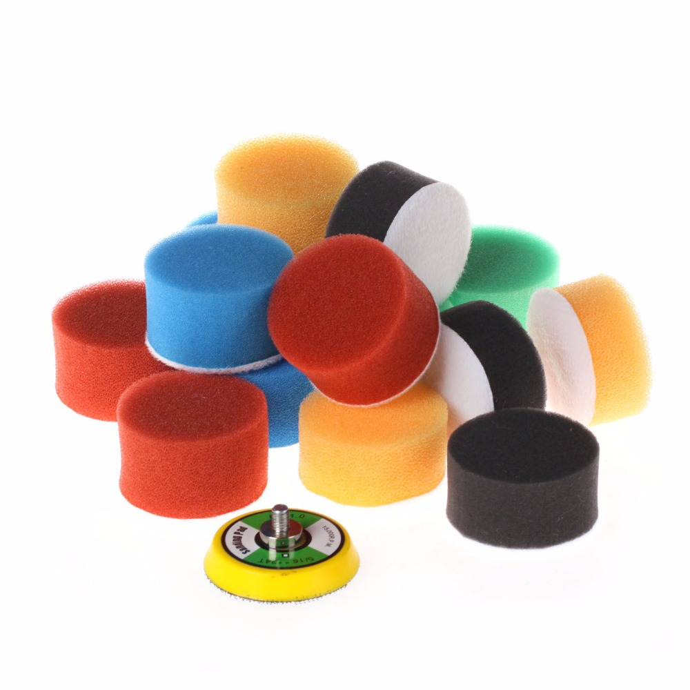 SPTA 50PCS of 2(50mm) Polishing Pad Buffing Polishing Pad Set For Car Polisher-Select Set spta red