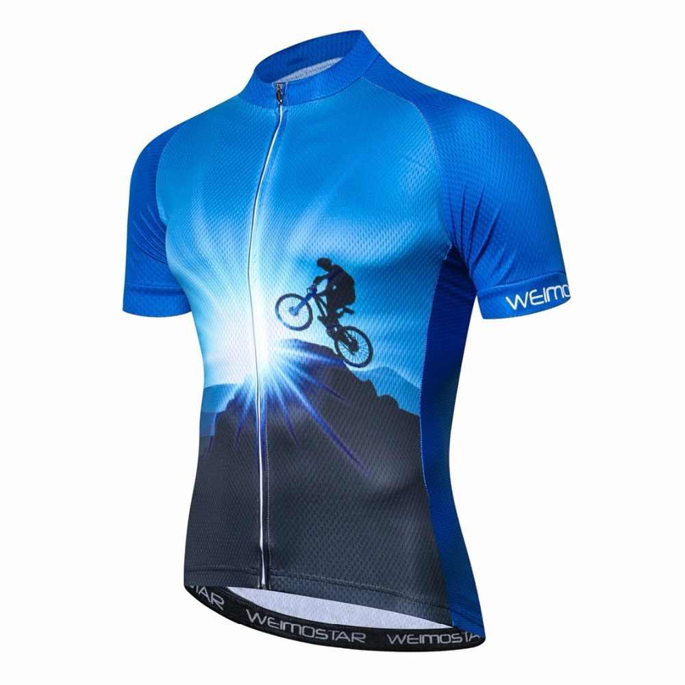 2019 camisa de ciclismo camisa de bicicleta dos homens verão pro mtb camisas de manga curta equipe maillot ciclismo topo azul camisa de bicicleta branco vermelho