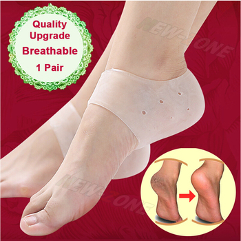 Quality Upgrade Breathable Gel Heel Socks Craked Heel Protector Anti Slip Foot Heel Problem Repair Feet Care 1 Pair image