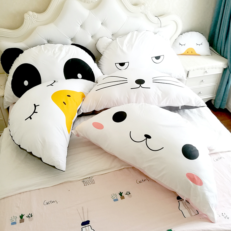 Drop Shipping Children s bed cushions bedside soft pillow removable washable large waist cushion animals home decoration