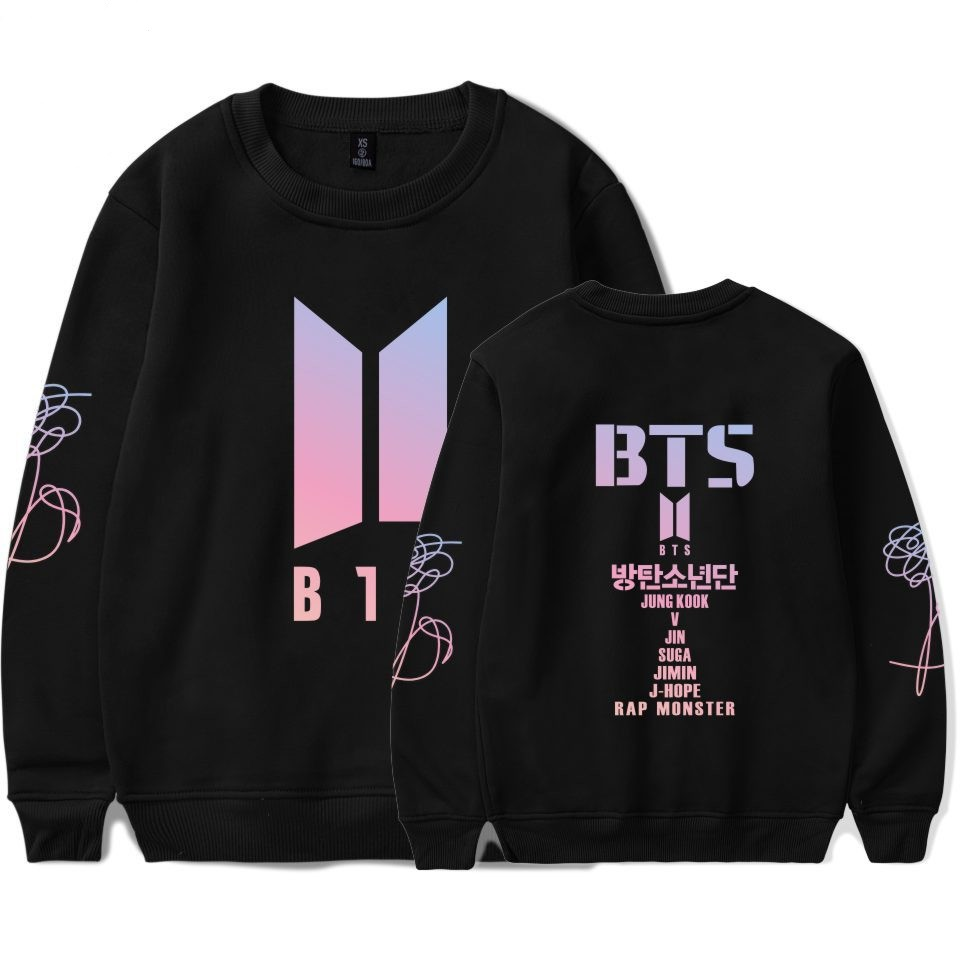 BTS K-pop Sweatshirt Women New Concept DNA Female Fans Capless Sweatshirt Women Fashion Bangtan Boys Hip Hop Clothes 4XL
