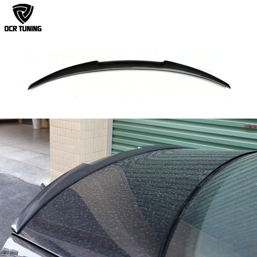 C7 A6 Spoiler Carbon Fiber Spoiler Rear Trunk Wing For Audi A6 C7 / 4G 2012 - UP M4 Style Fit 4 - Door Sedan Only wiper blades for audi a6 c7 4g 26