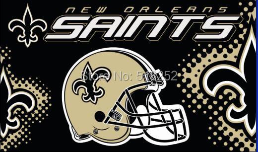 New Orleans Saints new helmet Flag 3x5 FT 150X90CM NFL Banner 100D Polyester Custom flag603, free shipping