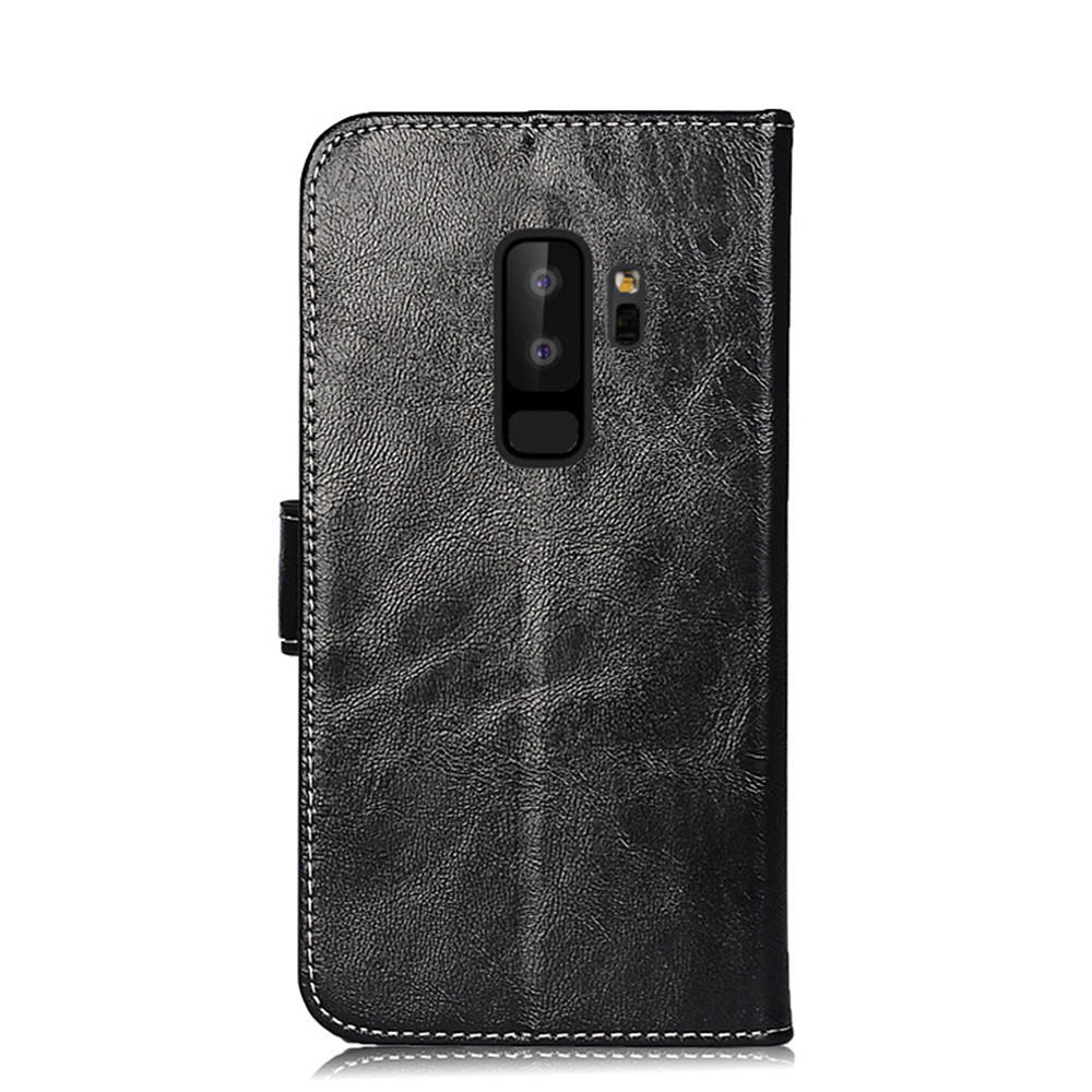 For Samsung Galaxy S9+ Retro Oil Wax PU Leather Flip Case Wallet Case With Card Slot Back Stand Cover For Samsung Galaxy S9 Plus