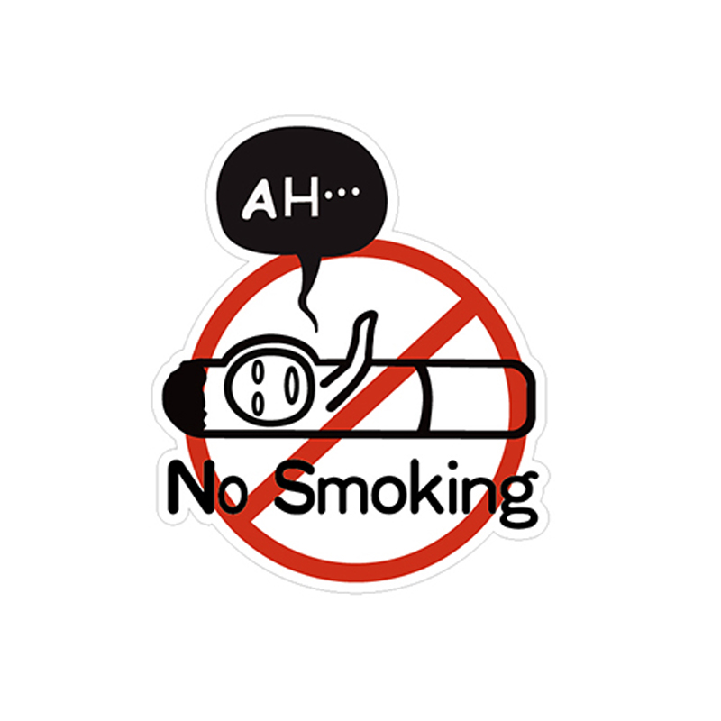 No Smoking Witty Sticker Restaurant/Cafe/Nightclub/Public Places Stickers 3M Waterproof 6-30cm
