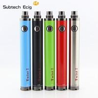 -Dos evod cigarrillo electrónico giro II de la batería 1600mah 1,8 ml bobina doble de flujo de aire ajustable control kit de vaporizador para principiantes vape