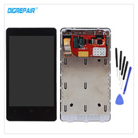100 Test Black For Nokia Lumia 800 LCD Display Touch Screen Digitizer Panel Assembly Repair Replacement