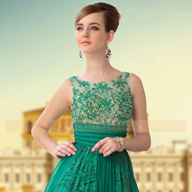 Aliexpress.com : Buy Free Shipping DORISQUEEN 30650 Green Color ...