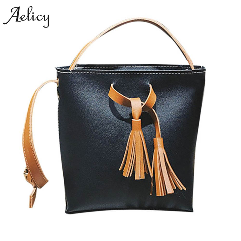 Bucket Bag Vintage Tassel Messenger Bag  Retro Shoulder Bag Simple Crossbody Bag Vintage