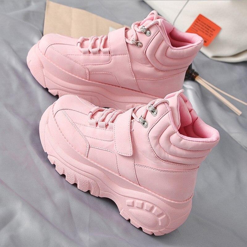 Frauen Schuhe Begeistert Der Neue Hot-verkauf Casual Frauen Schuhe Frühling Herbst Dicken Boden High Fashion Trend Ms Booties Bequeme Weiche Weiß Schuhe