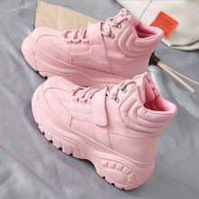 The new hot-selling casual Women shoes spring autumn thick bottom high fashion trend Ms booties Comfortable soft white