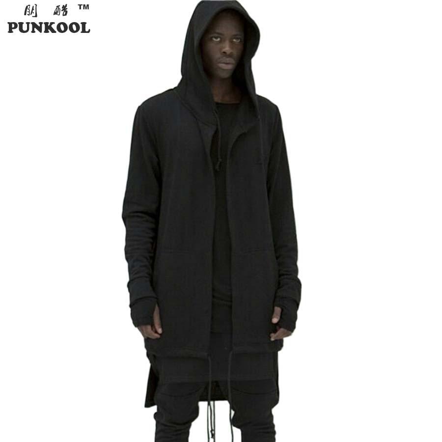punkool kanye west hoodie american hi street long black. Black Bedroom Furniture Sets. Home Design Ideas