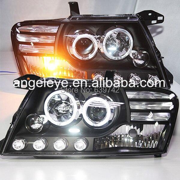 For Mitsubishi Pajero V73 LED Headlight Angel Eyes 2000 to 2008 V3 Type Mitsubishi Pajero