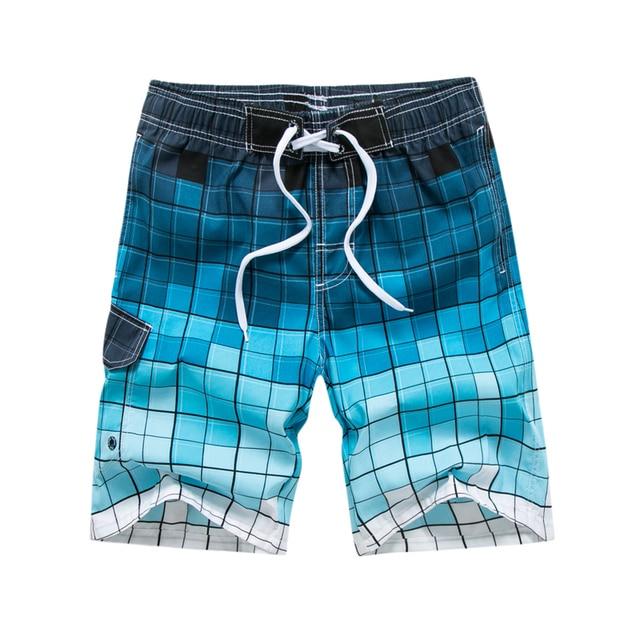 e1d3420e14 Raise Trust New Fashion Men's Beach Shorts Print Gradient Plaid Novelty  Short Pants Summer Casual Beach