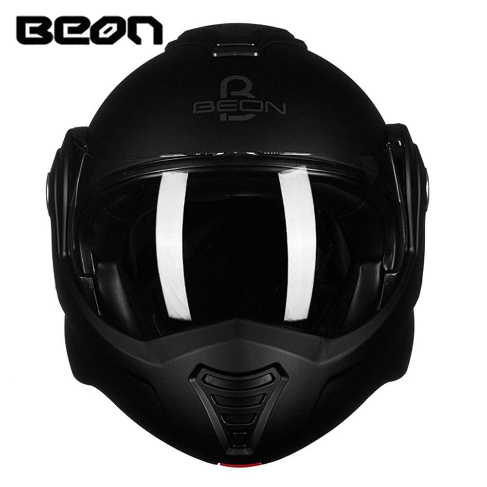 BEON 180 Flip up Casque de Moto modulaire ouvert Casque intégral Moto Casque Casco Motocicleta Capacete casques ECE