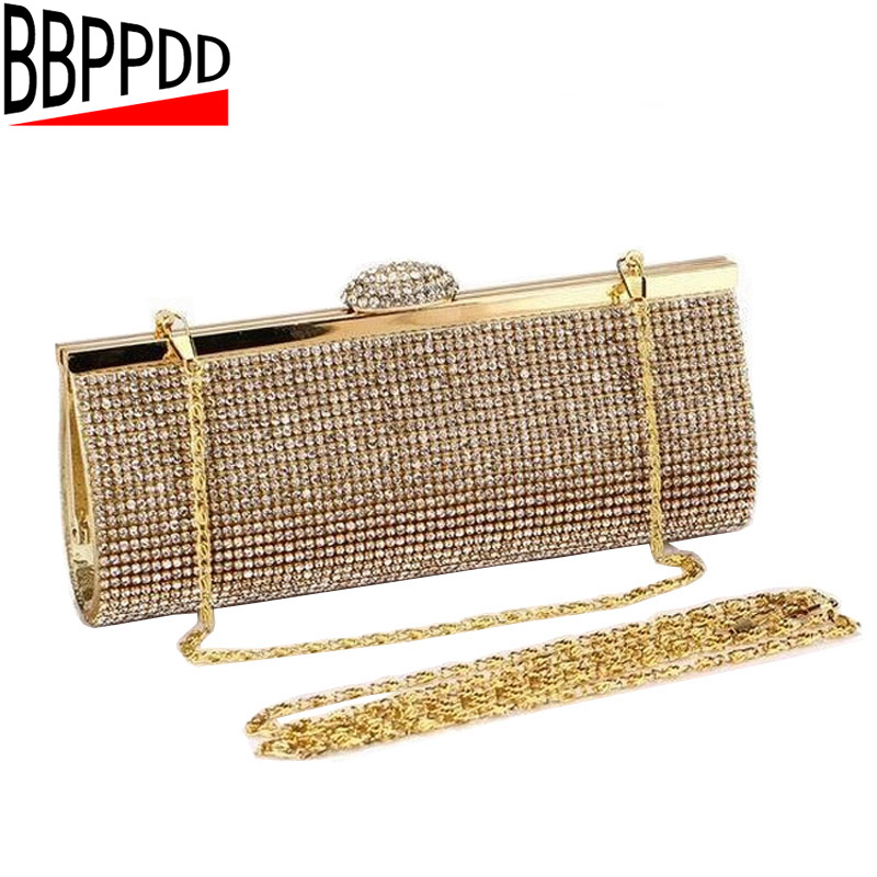 Ladies Knuckle Rings Evening Party Prom Clutch Bags With Crystal Decoration