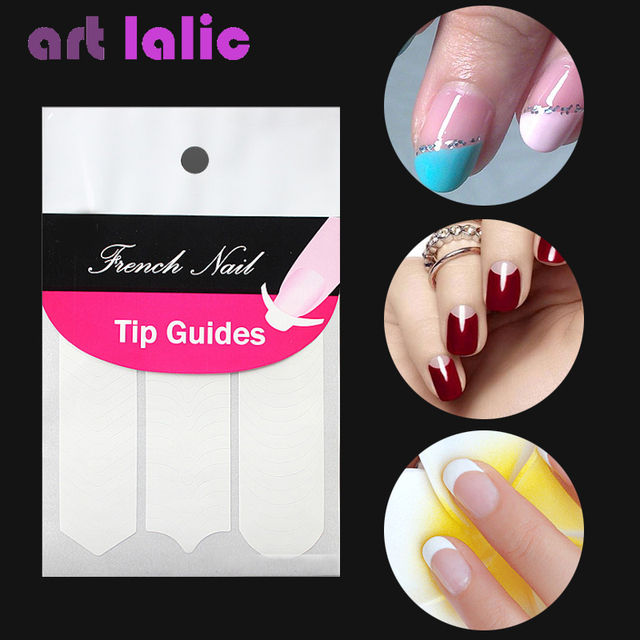 1 Sheet Nail Sticker Diy French Tips Guide Manicure Art Decorations Form Fringe Guides