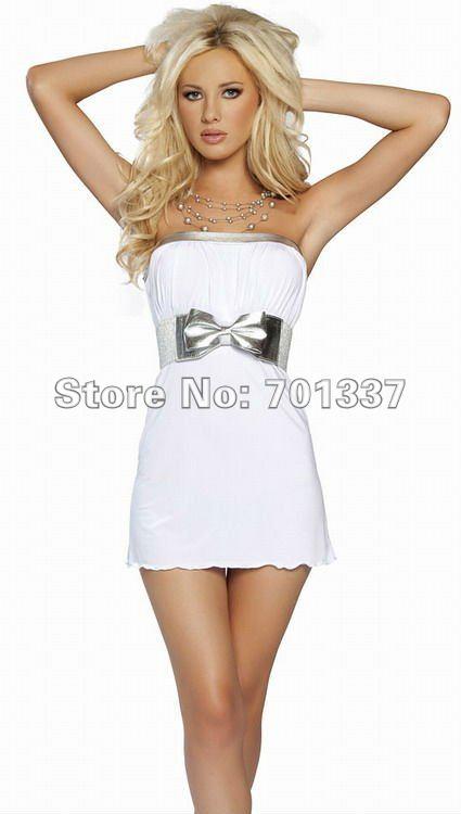 b51214d60 ⑦الجملة مثير حمالة نادي ارتداء اللباس حزب الأبيض واحد حجم 11092 - a952