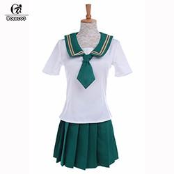 ROLECOS-Japanese-Style-Women-Cosplay-Costume-School-Girl-Uniform-Short-Sleeve-Shirt-and-Skirt-Sailor-Uniform