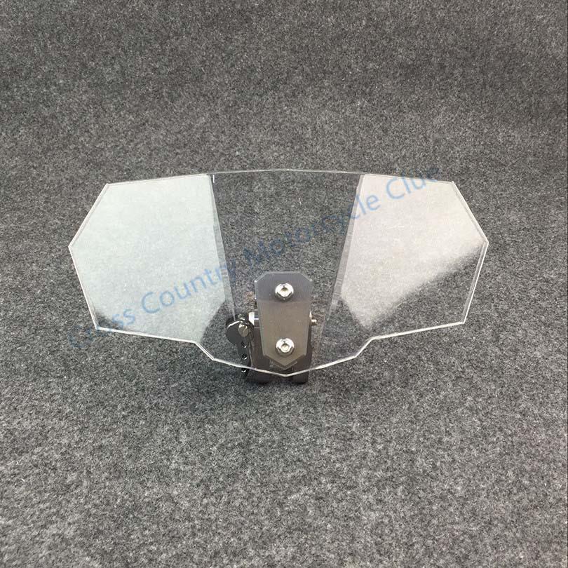 Parabrisas de motocicleta Universal Deflector de viento ajustable de flujo de aire para Kawasaki BMW Ducati honda KTM