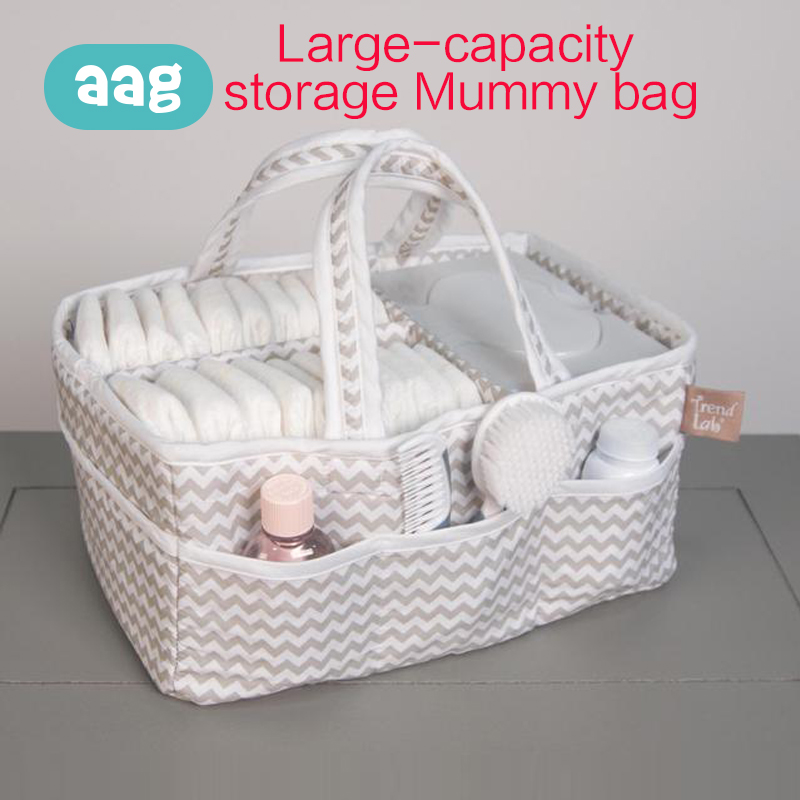 AAG Mummy Bag Diaper Maternity Nappy Wipes Finishing Storage Box Baby Supplies Fabric Storage Travel Bag Reusable Organizer 40