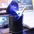 Durable Portable Negro Cenicero Del Coche Para Interiores de Automóviles Conjunto De Marcos Negro Carro de Viaje Ceniza de Cigarrillo Cenicero Titular de la Lámpara LED